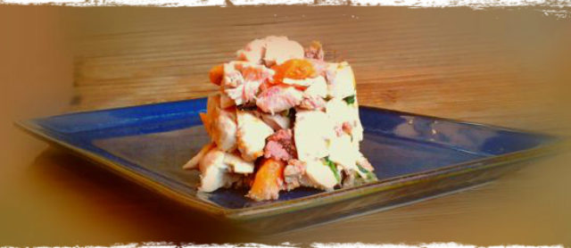 Chicken Salad for Dogs with a Yam Liver Mash