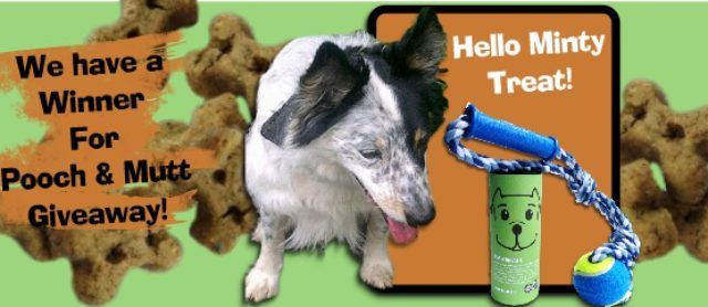 We have a Wagn' Winner For our Pooch & Mutt Giveaway