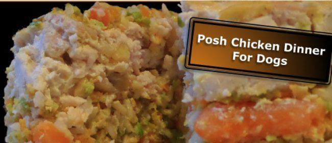 Posh Chicken Dinner Layer Cake For Dogs-Homemade Dog Food Recipe