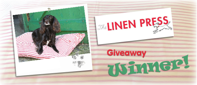 Dog Bed Cover  From The Linen Press giveaway [Winner]