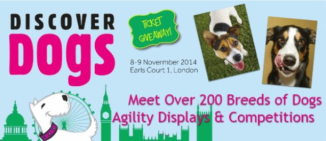 Discover Dogs 2014 Free ticket Giveaway -London, UK