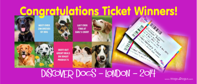 Congratulate our ticket winners for Discover Dogs