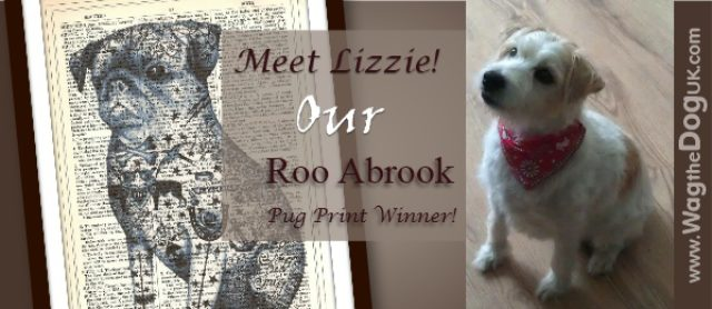 Bigs Wags To Our Winner Of Tattoo Pug Dog Print By Roo Abrook