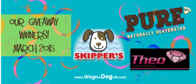 Our Wagging Winners - March 2015 Giveaways