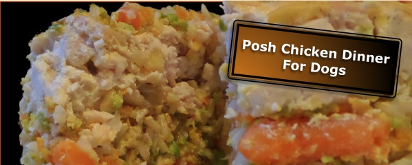 Posh Chicken Dinner Layer Cake | Homemade Dog Food Recipes That Can Save You Money | homemade dog food recipes for skin allergies