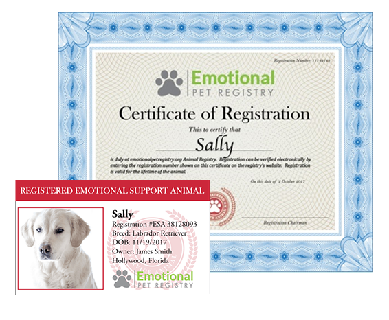 Emotional Support Pet Registry Usa Sign Up Today Wag
